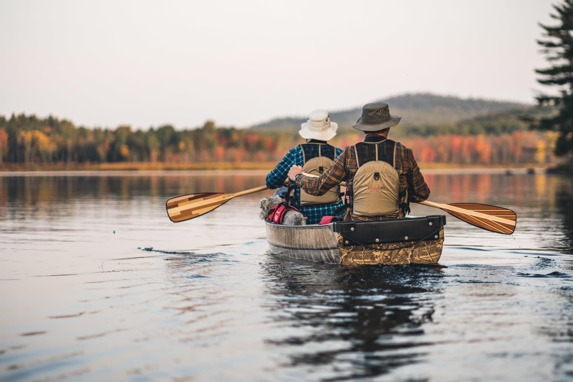 faire du canot le matin