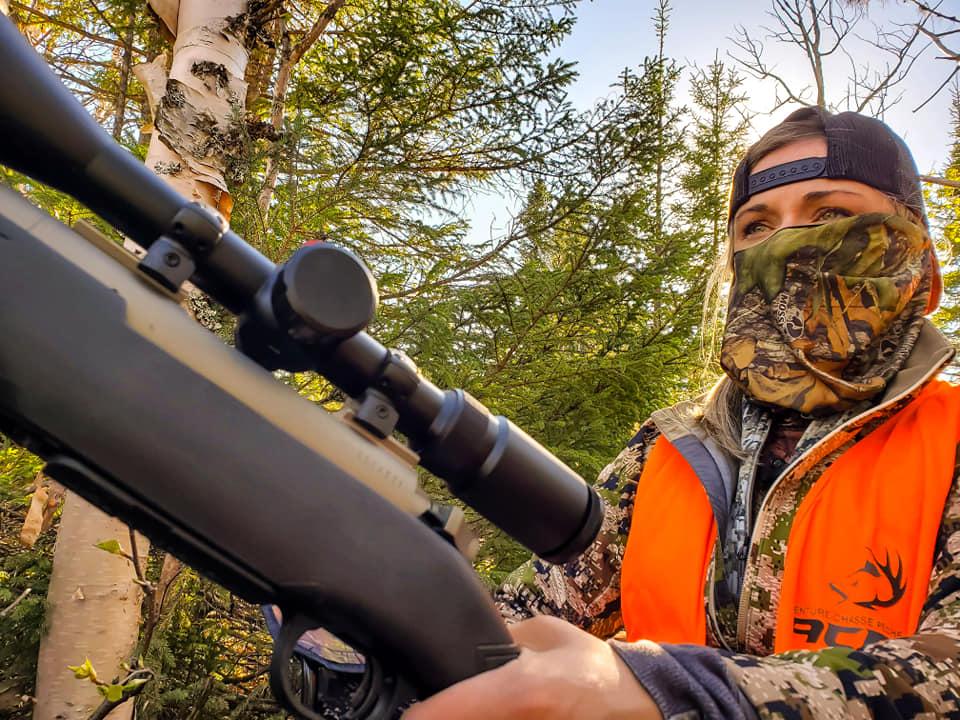 chasse avec Kate nadeau Mercier
