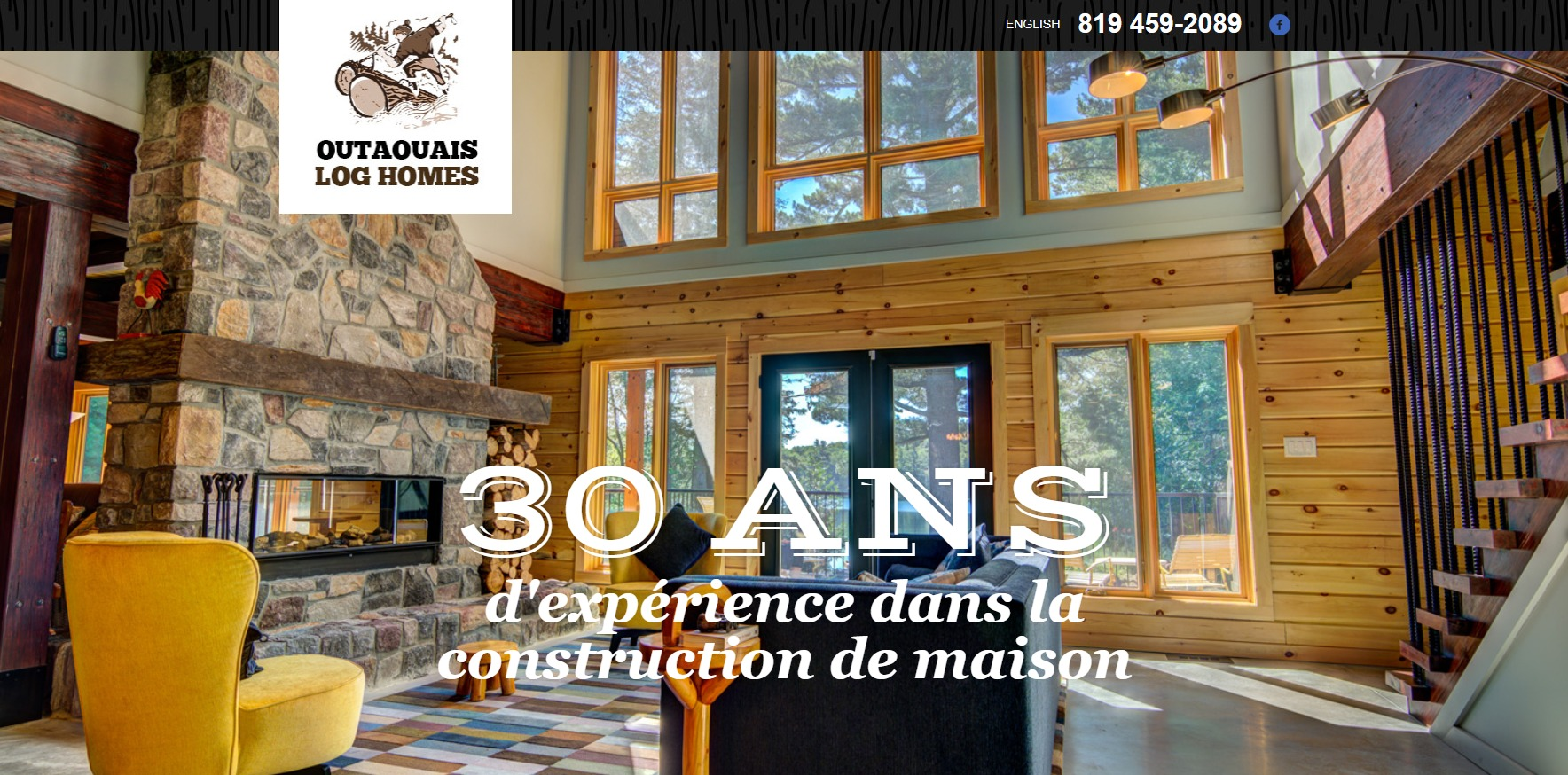 Outaouais log home